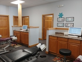 Chiropractic Winnebago IL Adjusting Room